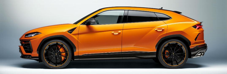 2021 Lamborghini Urus Pearl Capsule in Arancio Borealis Exterior Driver Side Profile