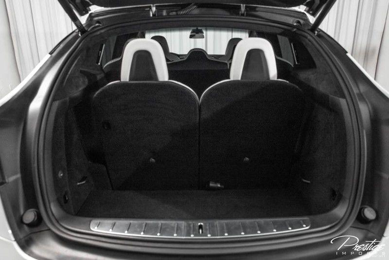 2018 Tesla Model X P100D Interior Cabin Rear Cargo Area