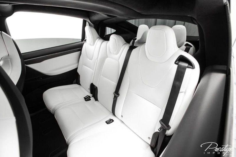 2018 Tesla Model X P100D Interior Cabin Rear Seating