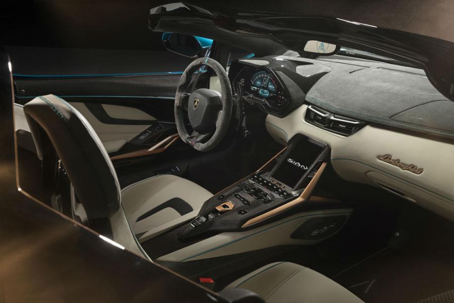 Lamborghini Sian Roadster Interior Cabin Dashboard