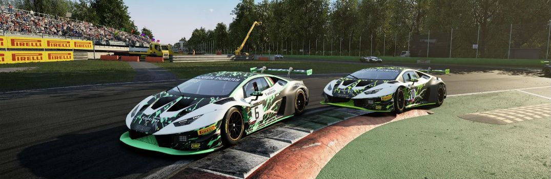 Screenshot of Digital Lamborghini Models from The Real Race