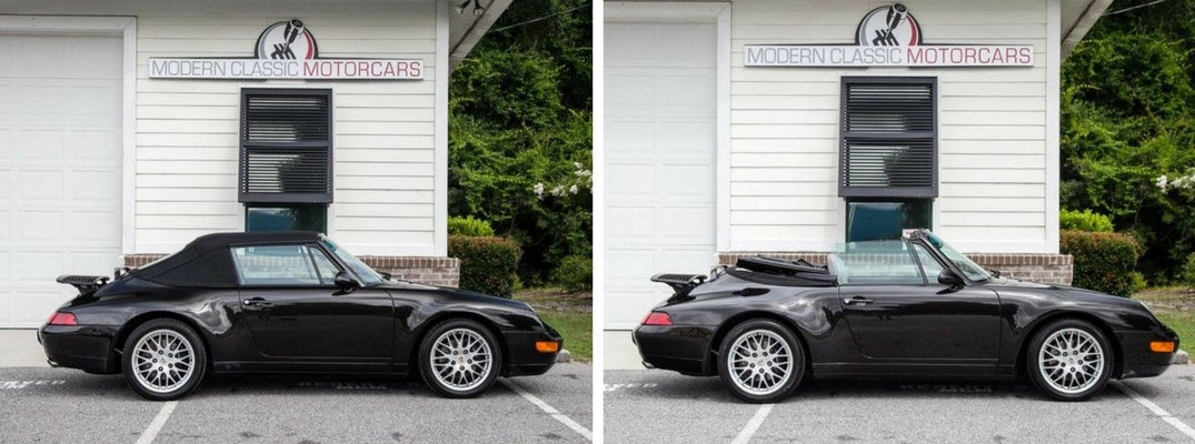 Experience legendary sports car performance with a used 1995 Porsche 911 Carrera Cabriolet