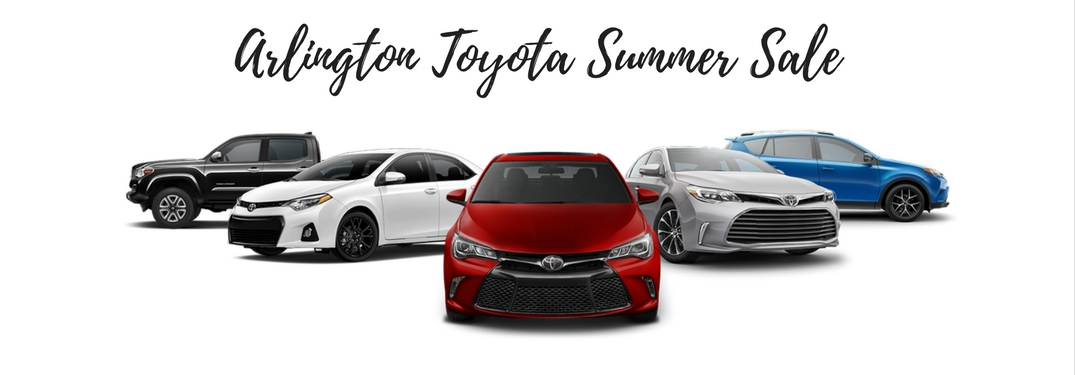 arlington toyota summer sale