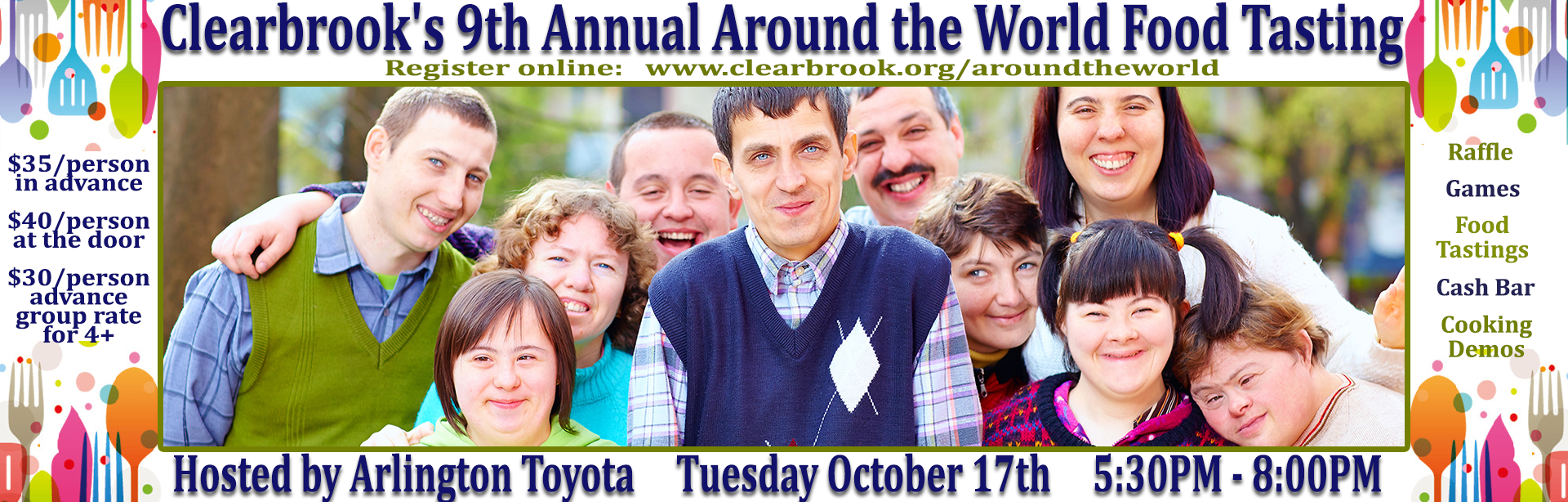 Clearbrook's 9th Annual Around the World Food Tasting at Arlington Toyota_d