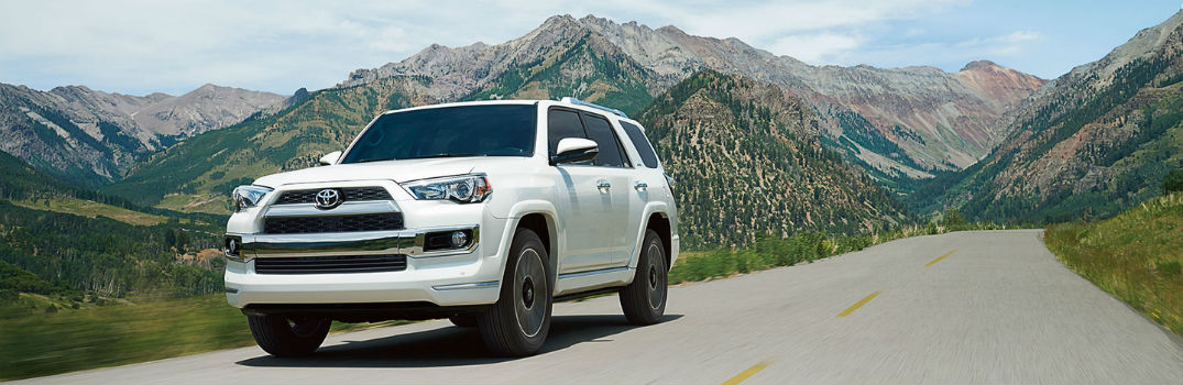2018 Toyota 4Runner Exterior Front Driver Side in front of Mountains