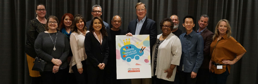 National judges after voting for U.S. winners of the 12th Toyota Dream Car Art Contest