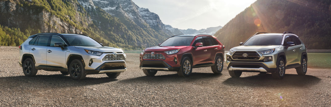 2019 Toyota RAV4 Lineup Exterior Driver Side and Passenger Side Front Angles