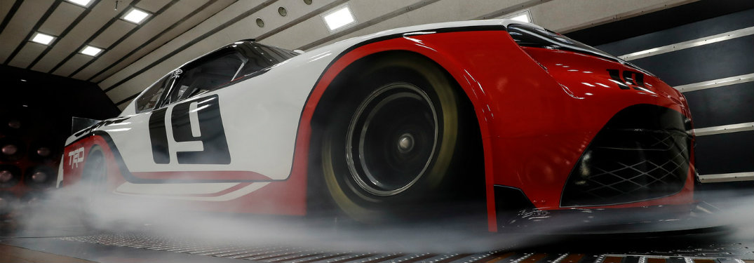 front-wheel-and-side-view-of-2019-Toyota-Supra-NASCAR-racing