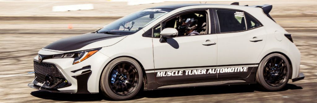 Sema Muscle Tuner Automotive Toyota Corolla Hatchback Exterior Driver Side Front Profile O X