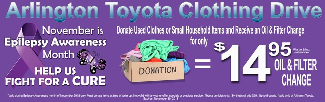 Arlington Toyota Clothing Drive for Epilepsy Awareness Month