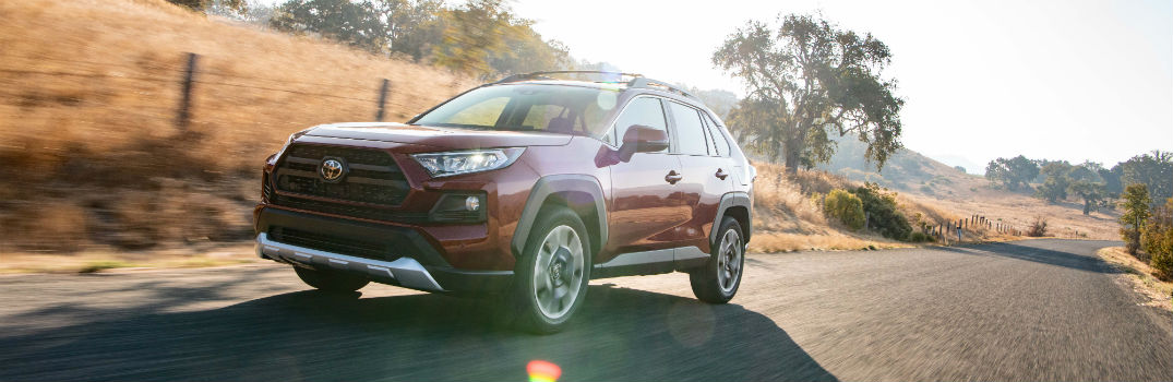 2019 Toyota RAV4 Adventure Ruby Exterior Driver Side Front Profile