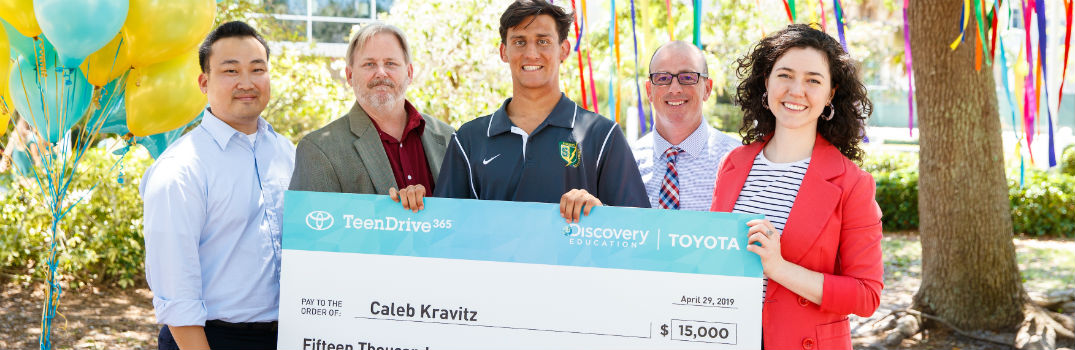 Teen Drive Challenge Winner Gets Big Check Prize