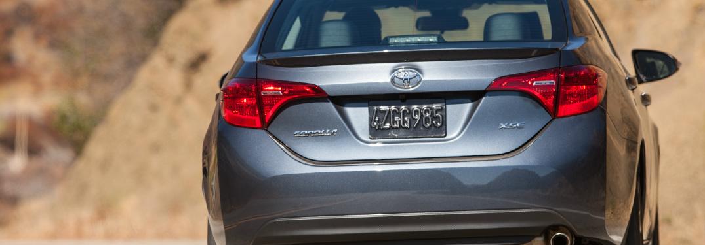 2018 Toyota Corolla rear exterior in grey