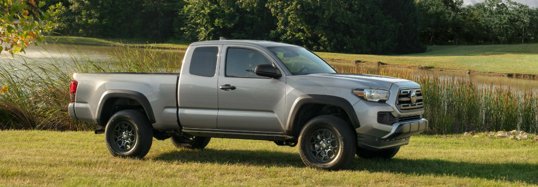 2018 Toyota Tacoma in grey side profile