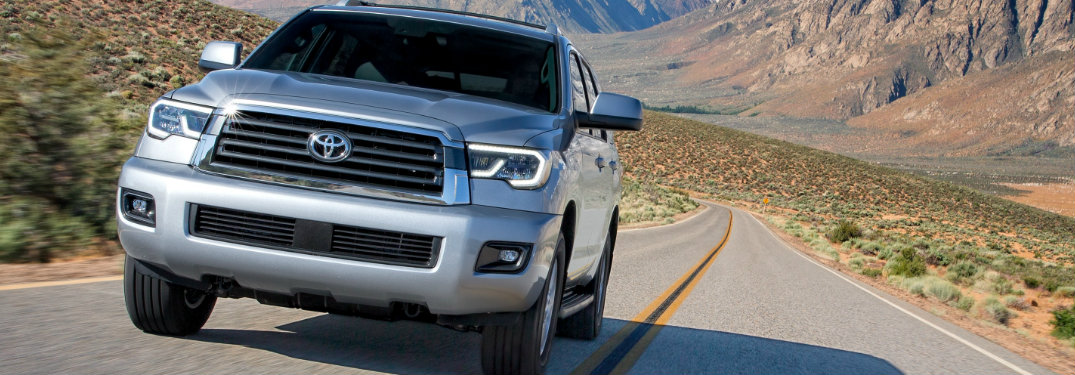 2019 Toyota Sequoia front grille and headlights