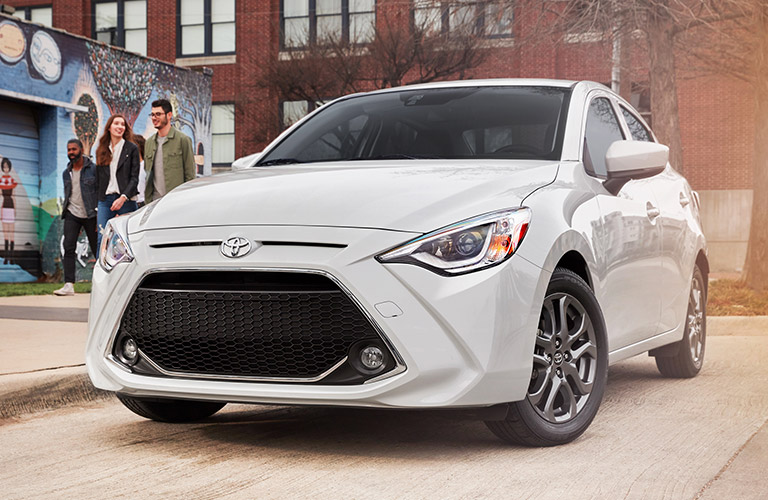 2019 Toyota Yaris exterior in white