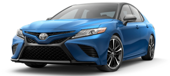 2020 Toyota Camry Blue Streak Metallic with Midnight Black Metallic Roof
