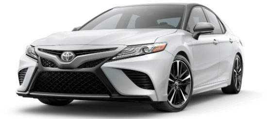 2020 Toyota Camry Wind Chill Pearl with Midnight Black Metallic Roof