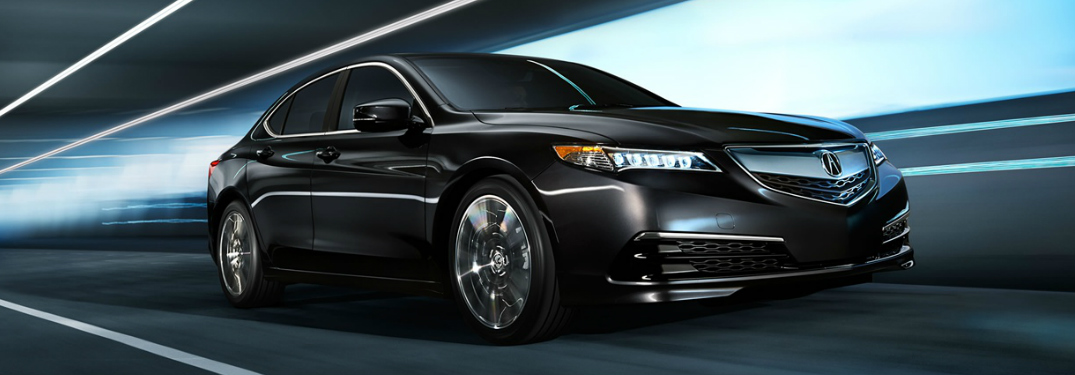 black 2018 Acura TLX on the road