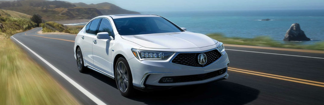2018 Acura RLX on the road