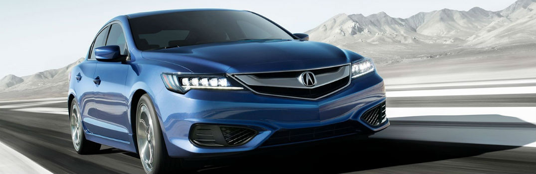 blue 2018 Acura ILX on the road