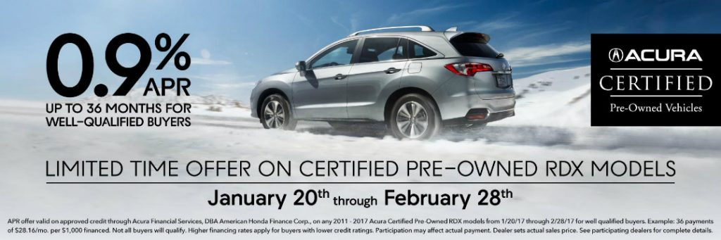 February Certified PreOwned Acura RDX Special Ford Wayne IN - Acura special financing