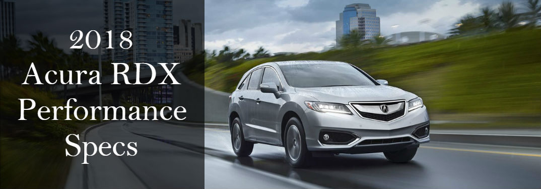 What is the performance of the 2018 Acura RDX?