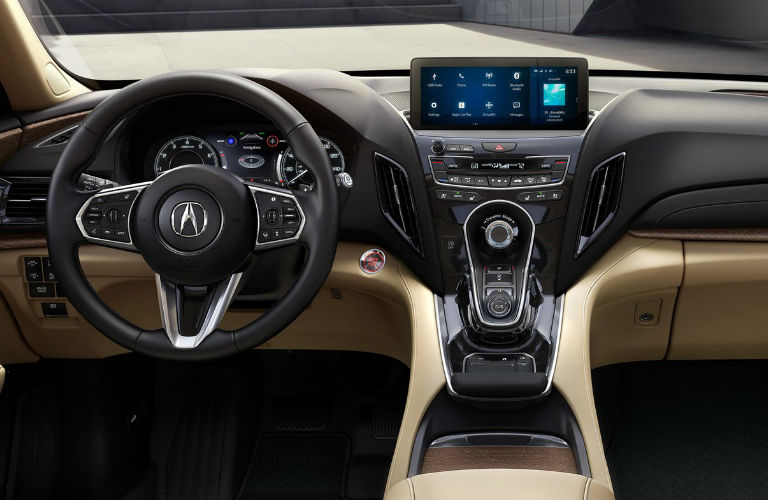 2019 Acura RDX With Advance Package And Parchment Interior With View Of  Center Console