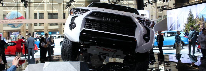 2019 Toyota 4Runner TRD Pro climbing ramp at CAS 2018