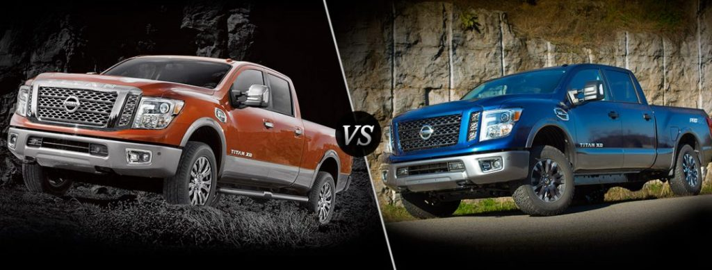 2017 nissan titan vs 2017 nissan titan xd. Black Bedroom Furniture Sets. Home Design Ideas