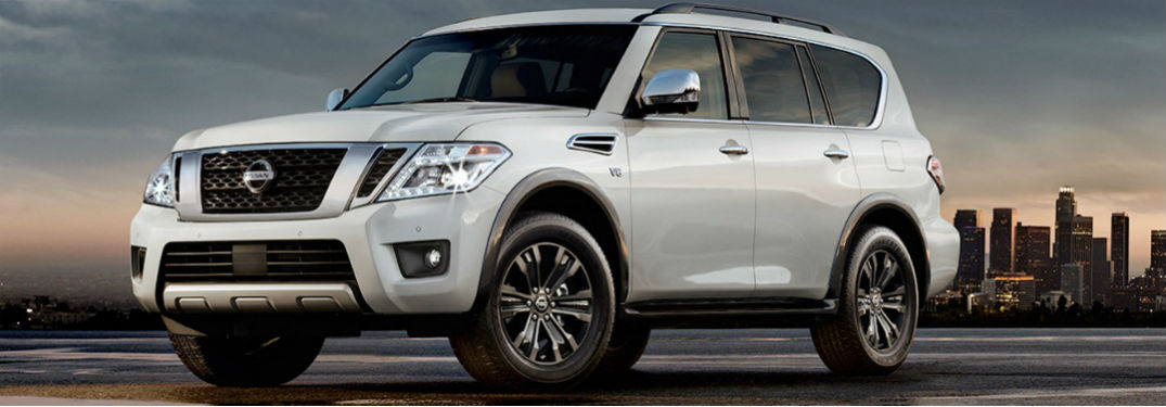 2017 Nissan Armada SUV in white side view