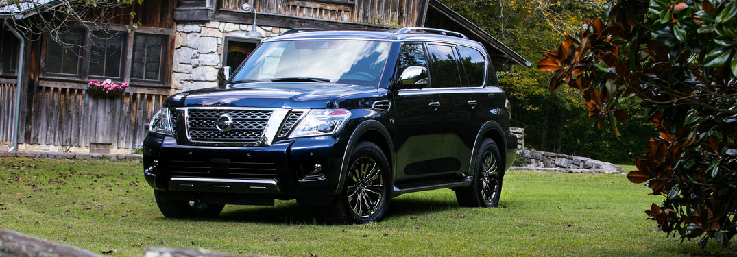 2018 Nissan Armada Platinum Reserve parked on a lawn