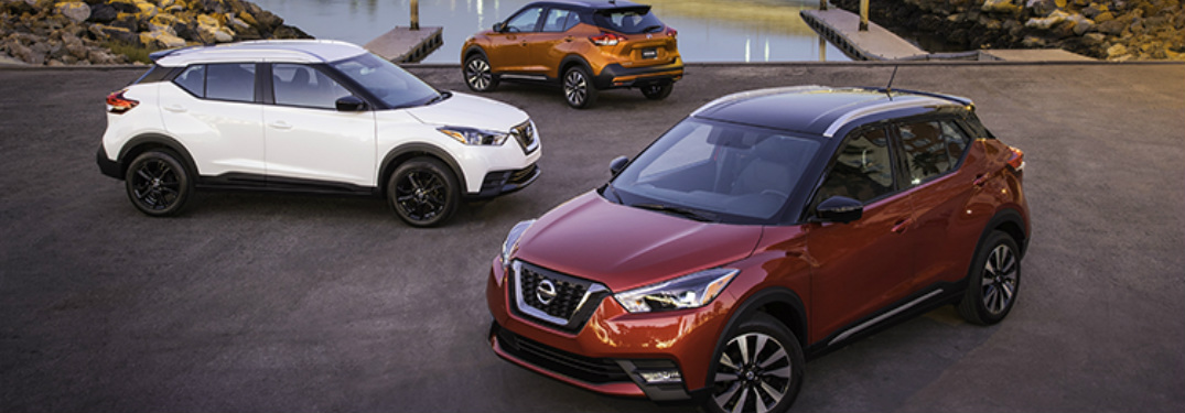 three models of the 2018 Nissan Kicks