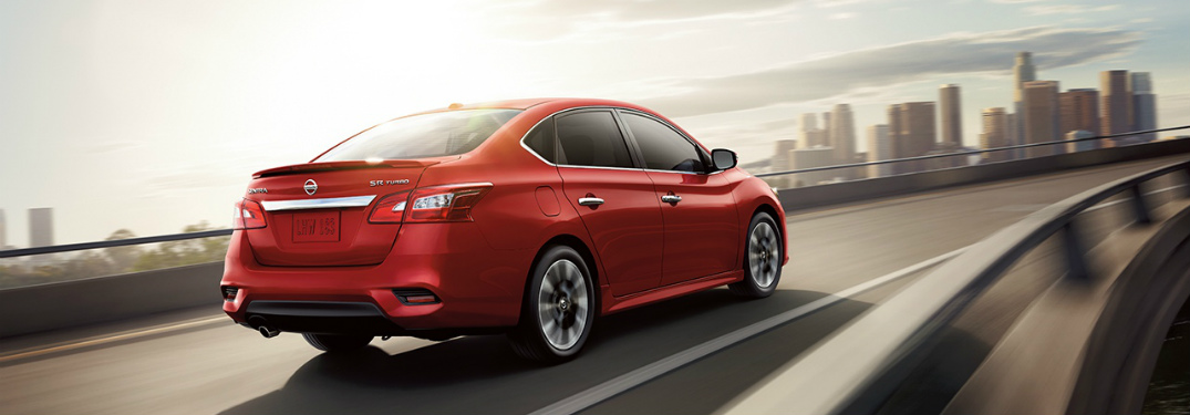 red 2018 Nissan Sentra back side view