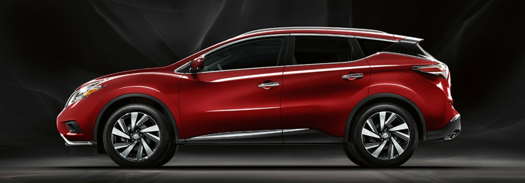 red 2018 Nissan Murano side view