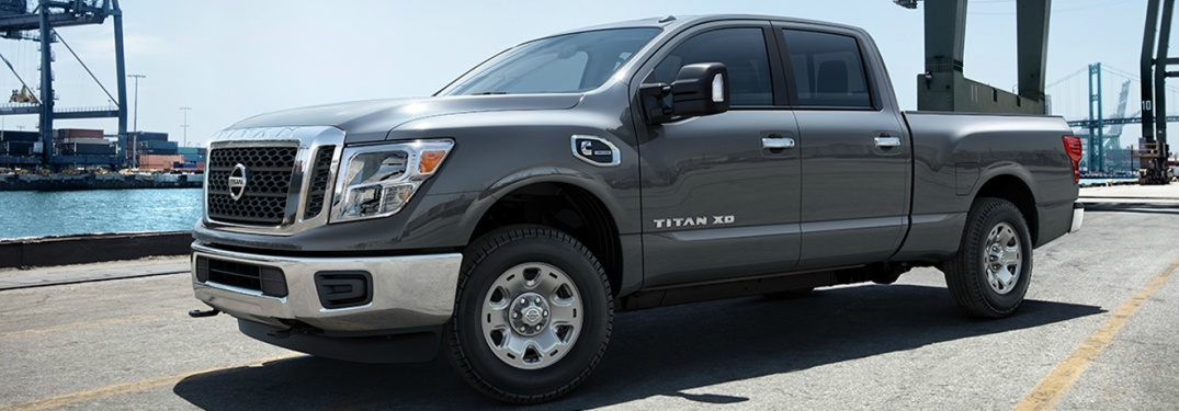 gray 2018 Nissan Titan XD front side view