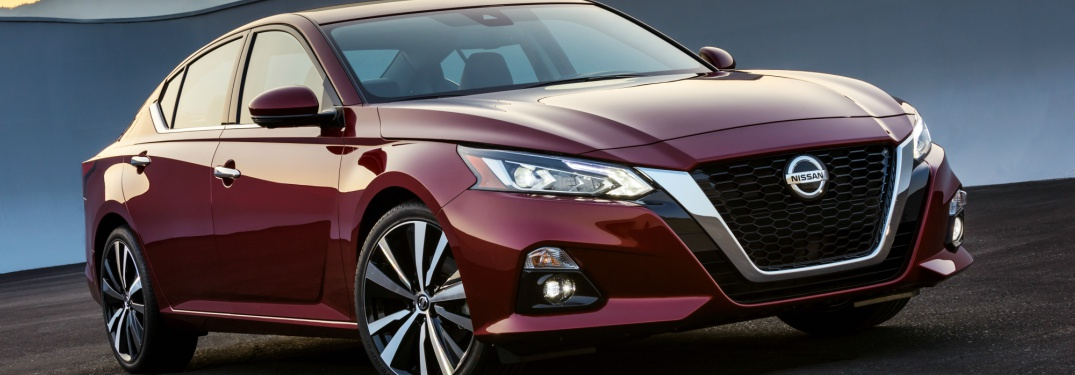 red 2019 Nissan Altima front side view