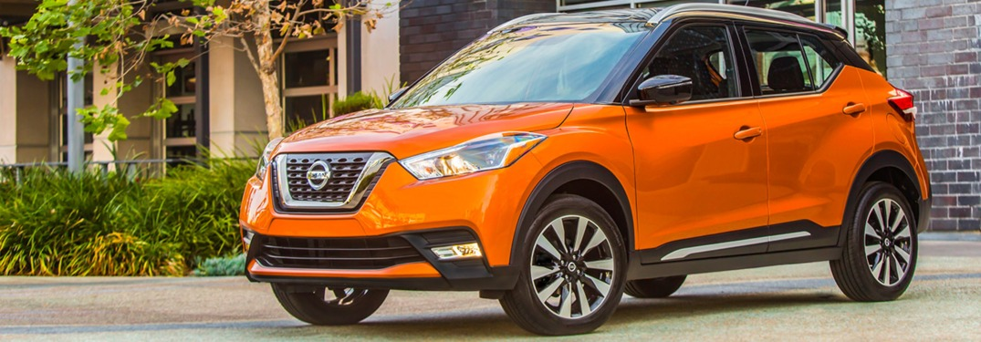 orange 2018 Nissan Kicks front side view