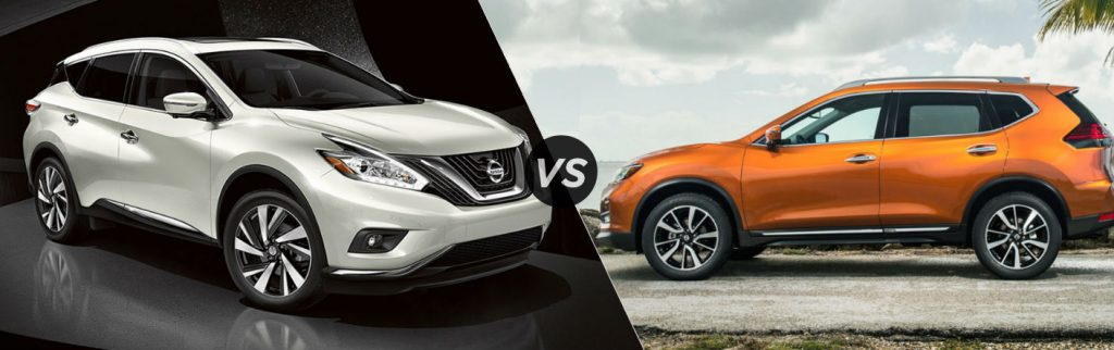 2017 Nissan Murano vs 2017 Nissan Rogue Size Comparison