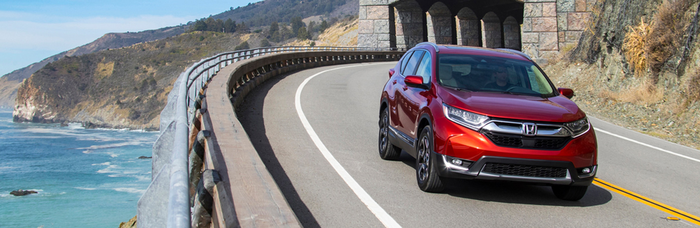 2019 Honda CR-V on winding coastal road