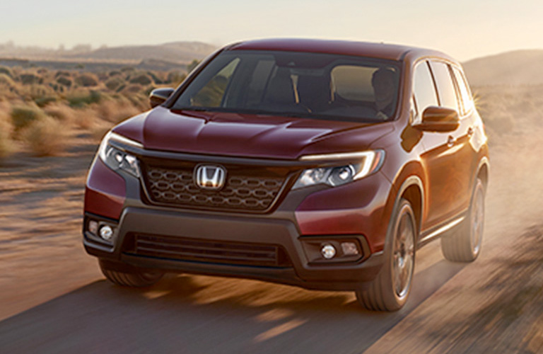 2019 Honda Passport Sport in red