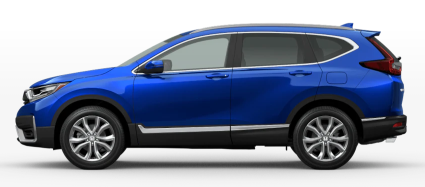Aegean Blue Metallic 2020 Honda CR-V on White Background