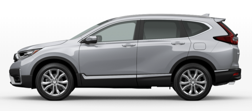 Lunar Silver Metallic 2020 Honda CR-V on White Background