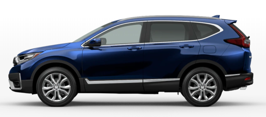 Obsidian Blue Pearl 2020 Honda CR-V on White Background