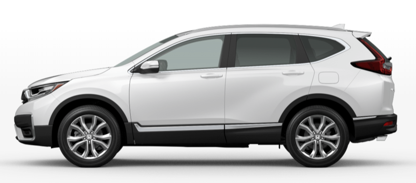 Platinum White Pearl 2020 Honda CR-V on White Background