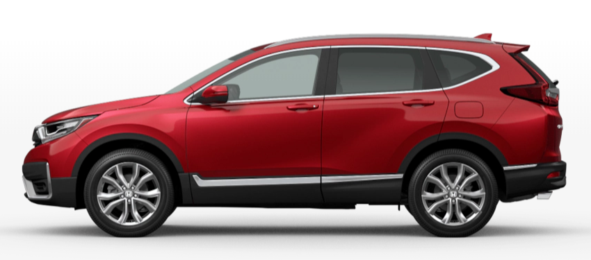 Radiant Red Metallic 2020 Honda CR-V on White Background
