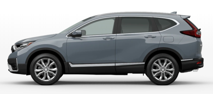 Sonic Gray Pearl 2020 Honda CR-V on White Background