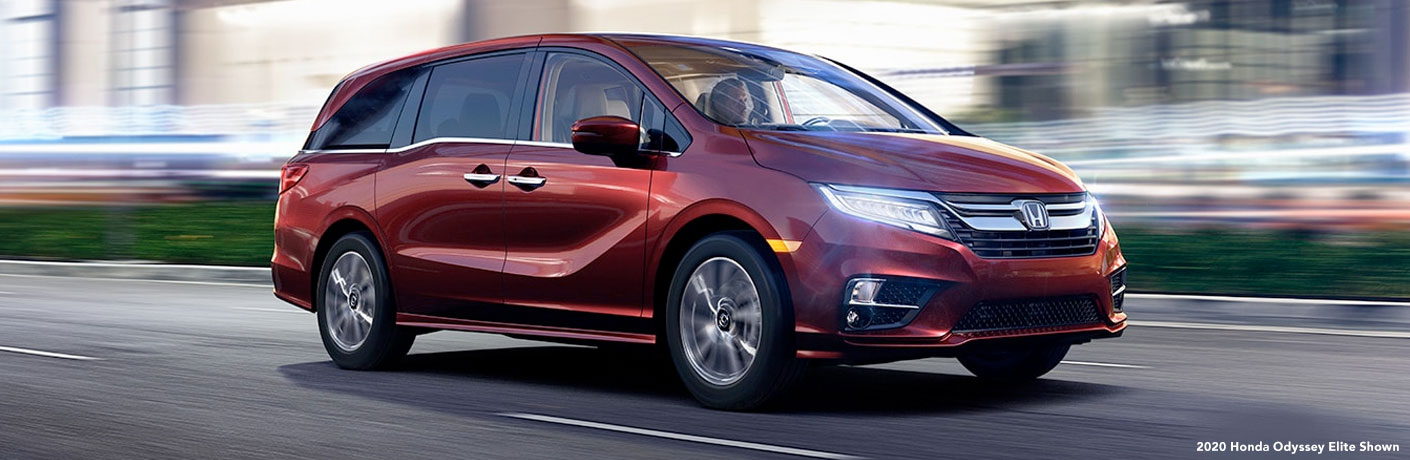 2020 Honda Odyssey on road. 2020 Honda Odyssey Elite Shown.