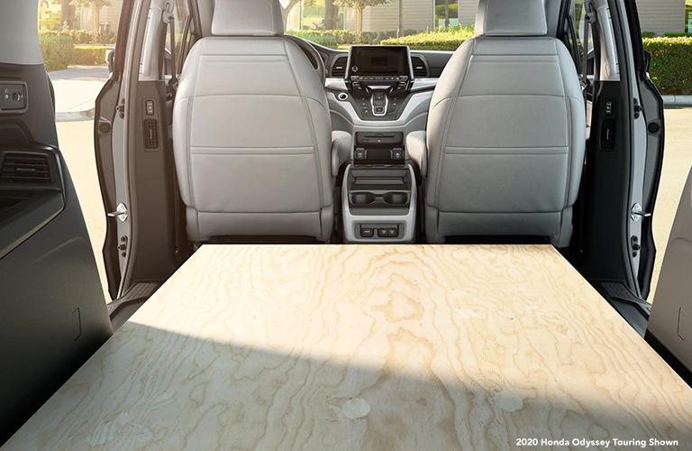 2020 Honda Odyssey cargo area. 2020 Honda Odyssey Touring Shown.