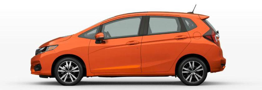 2020 Honda Fit in Orange Fury